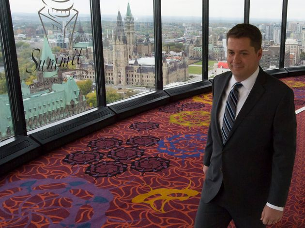Conservative Leader Andrew Scheer makes an appearance Monday morning in Ottawa. Scheer says if the Conservatives...