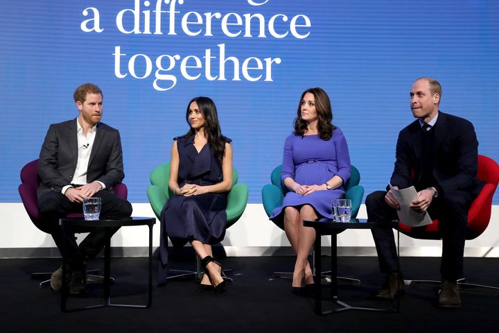 The royal couples worked together in the past on mental health initiatives, such as The Royal Foundation's Heads Together program.