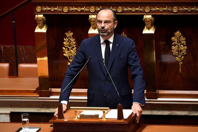Edouard Philippe à l'Assemblée nationale lundi 7 octobre, à l'occasion du lancement...