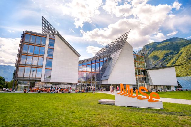 Trento, 14 Aug 2017 - The MuSe museum in Trento - Museum of Natural History designed by Renzo