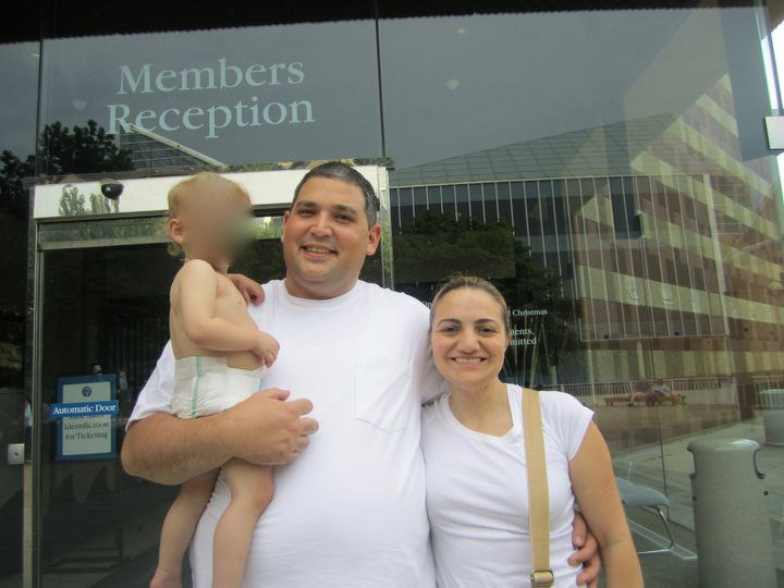 Kimberly and Anthony, who is holding Beth's daughter Stephanie, during a weekend trip to meet the family they had hoped to adopt from.
