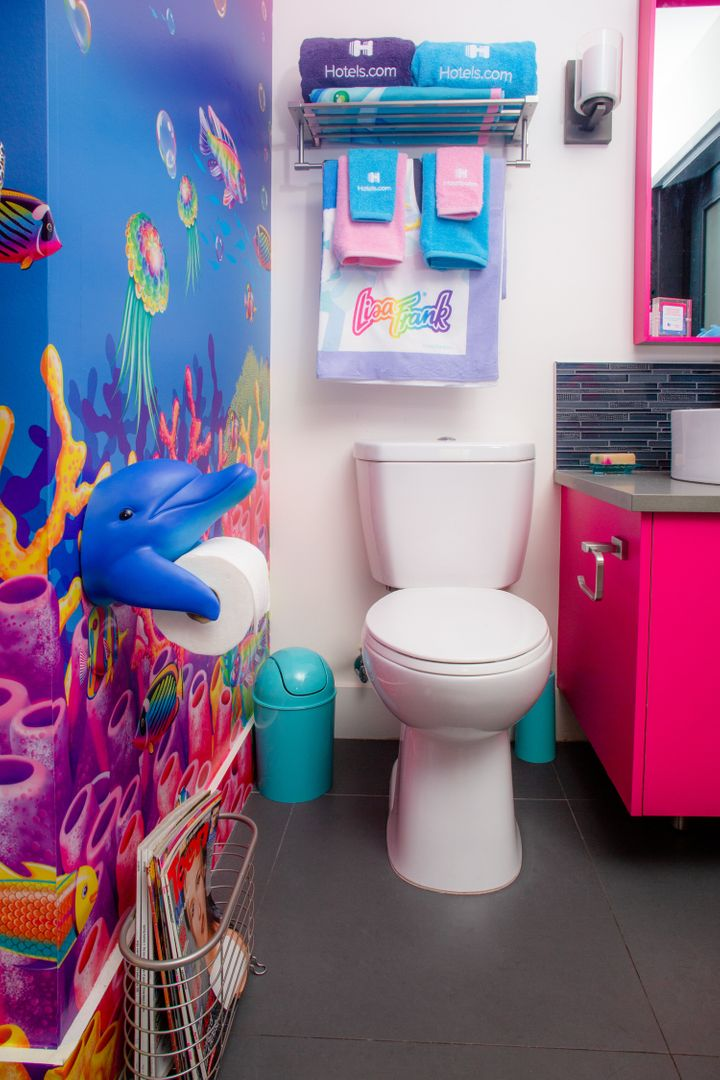 We'd expect nothing less from a Lisa Frank bathroom.