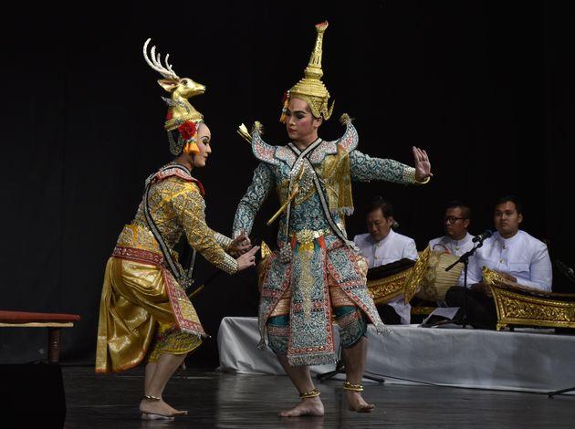 Khon Ramakien (Masked played Ramayana) Thailand, during International Ramayana festival organised by...