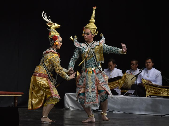 Khon Ramakien (Masked played Ramayana) Thailand, during International Ramayana festival organised by ICCR at Kamani Auditorium on October 10, 2016, in New Delhi.