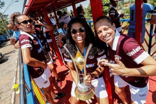 Más celebraciones de las jugadoras, en Araraquara
