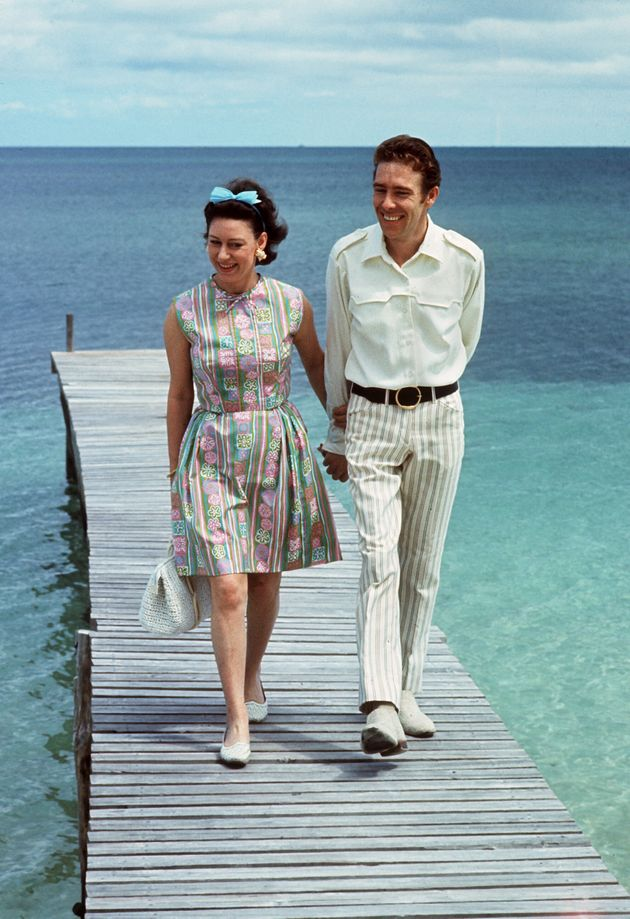 Princess Margaret and her husband, the Earl of Snowdon, in the Bahamas in