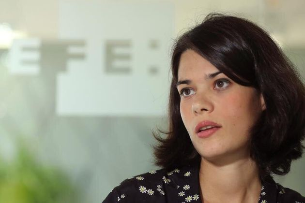 La portavoz de Unidas Podemos en la Asamblea de Madrid,IsaSerra, durante la entrevista con Efe. EFE/Angel