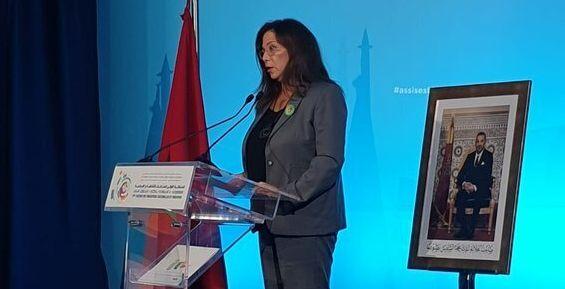 Neila Tazi, présidente la Fédération des industries culturelles et créatives (FICC), lors de la première...
