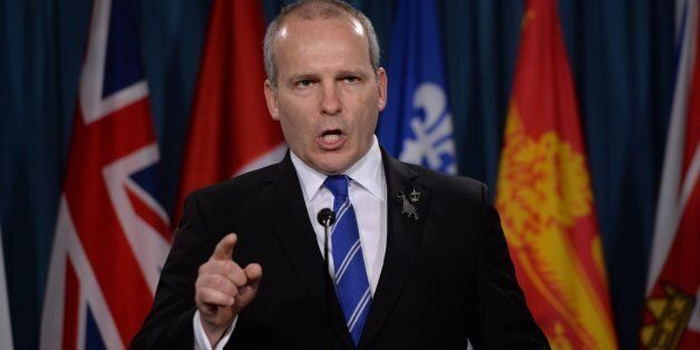 NDP MP Ryan Cleary holds a press conference on Parliament Hill in Ottawa on Monday, February 2,