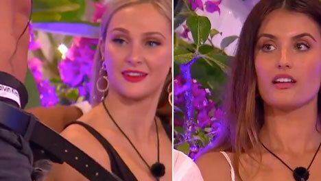 Love Island Australia's Jessie and Cartier react to Eoghan's strip