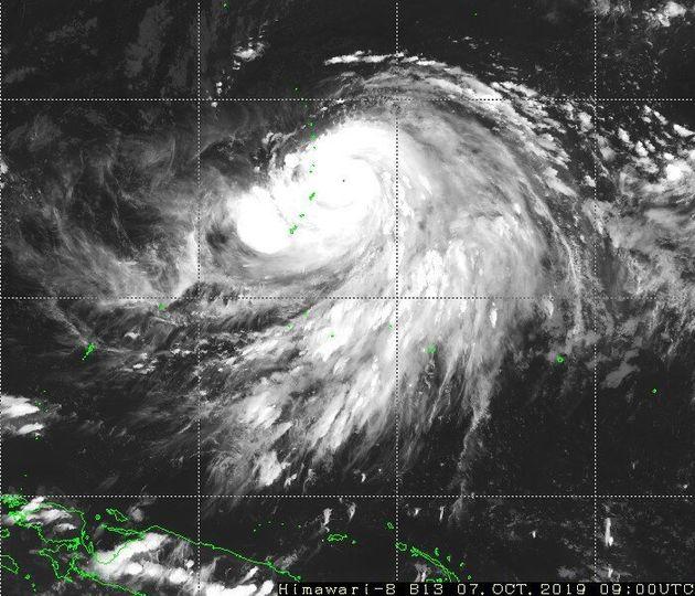 衛星画像(気象庁より)