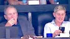 Ellen DeGeneres Memberikan Penjelasan Menarik Untuk George W. Bush Duduk Kontroversi