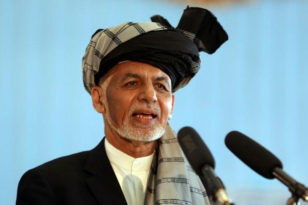 Ο υποψήφιος πρόεδρος, Ασράφ Γκανί.