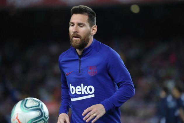 Messi en el partido contra el