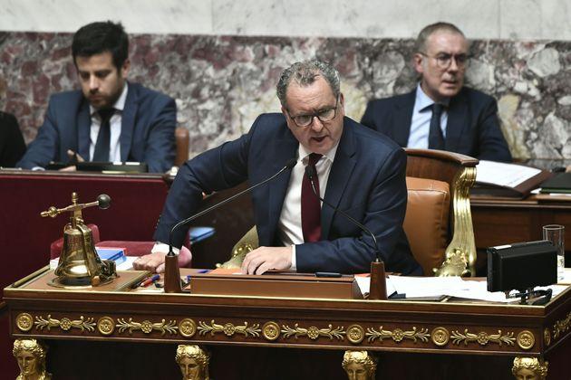 Le président de l'Assemblée nationale, Richard Ferrand, lors d'une séance de questions...