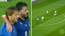 Totti segna alla Germania nella sfida tra leggende. Ed è subito nostalgia dei mondiali del 2006