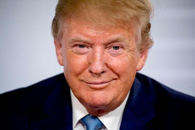 Donald Trump sonríe durante el encuentro del G-7 en Biarritz (Francia), el pasado 25 de