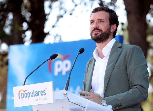 El presidente del PP, Pablo Casado. EFE/Javier