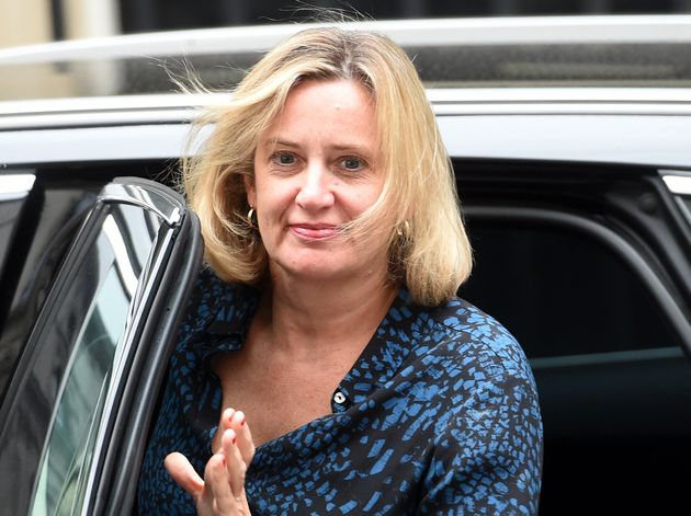 Works and Pensions Secretary Amber Rudd arriving for a meeting being held at 10 Downing Street, central