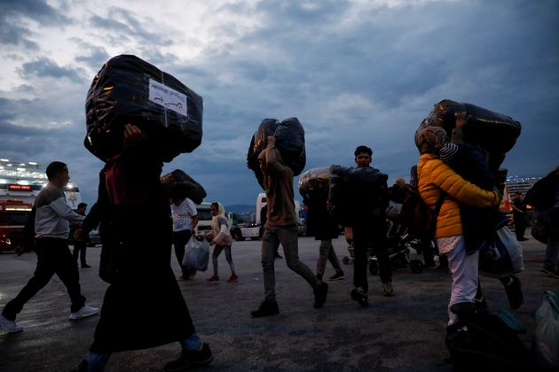 Des réfugiés et des migrants débarquant en Grèce, le 7 octobre