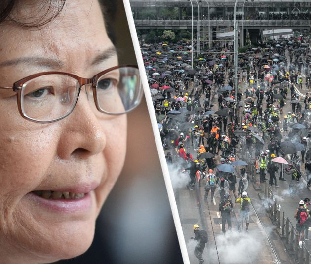 Carrie Lam, proteste a Hong
