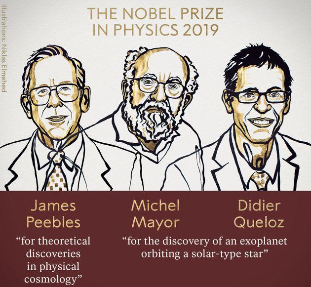 Le prix Nobel de physique 2019 a récompensé trois chercheurs pour deux travaux particuliers, dont la...