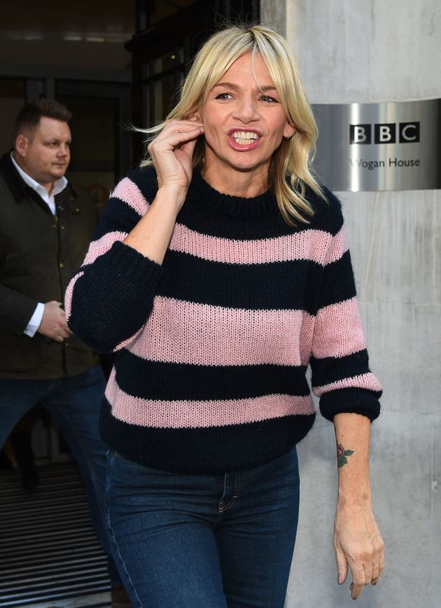 Zoe Ball leaves the Radio 2 Breakfast Show at BBC Broadcasting House in
