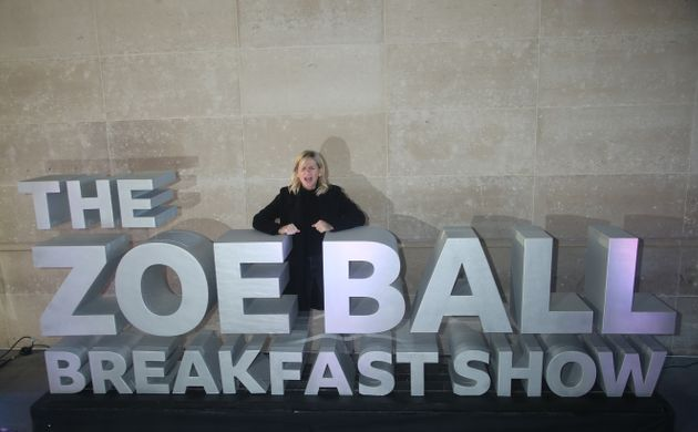 Zoe Ball outside Wogan House in London after her first morning hosting the BBC 2 Breakfast