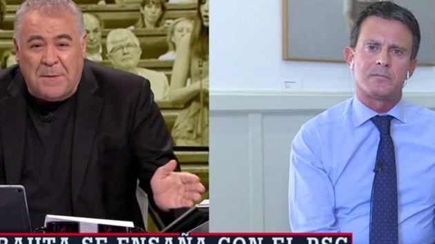 El periodista Antonio García Ferreras y el concejal de Barcelona Pel Canvi Manuel