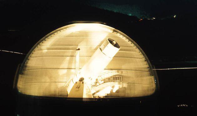 Le télescope sur lequel le spectrographe de Michel Mayor qui a détecté la première...