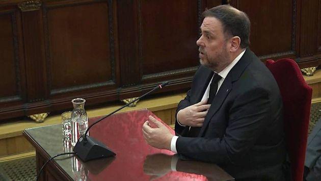 El exvicepresidente catalán Oriol Junqueras, durante su