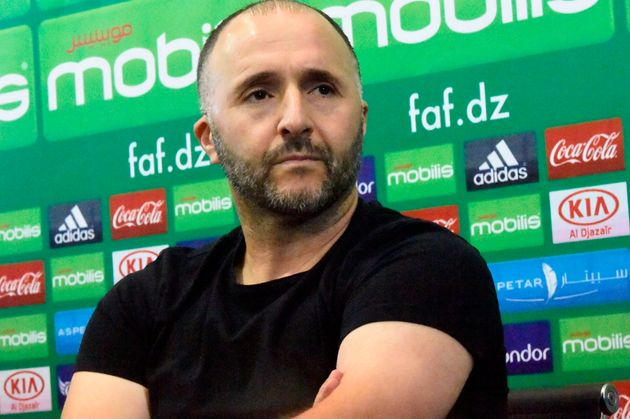Algeria's coach Djamel Belmadi attends a press conference on October 8, 2019, two days ahead of a friendly...