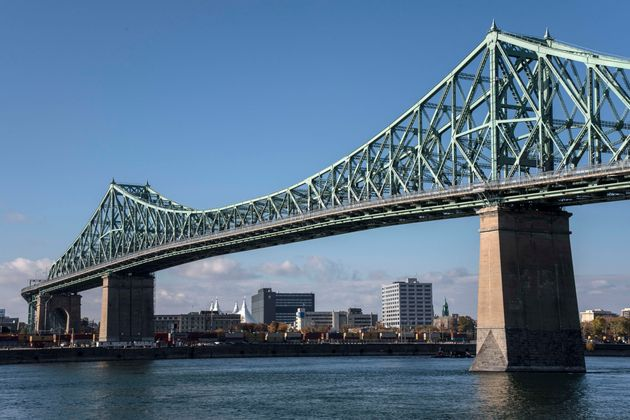 The Jacques Cartier Bridge is seen here in Montreal in October