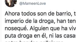 La reflexión de una tuitera sobre los barrios y las drogas: