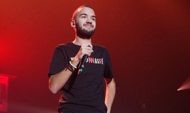 Olivio Ordonez, alias Oli, lors d'un concert à l'AccorHotels Arena le 8 décembre