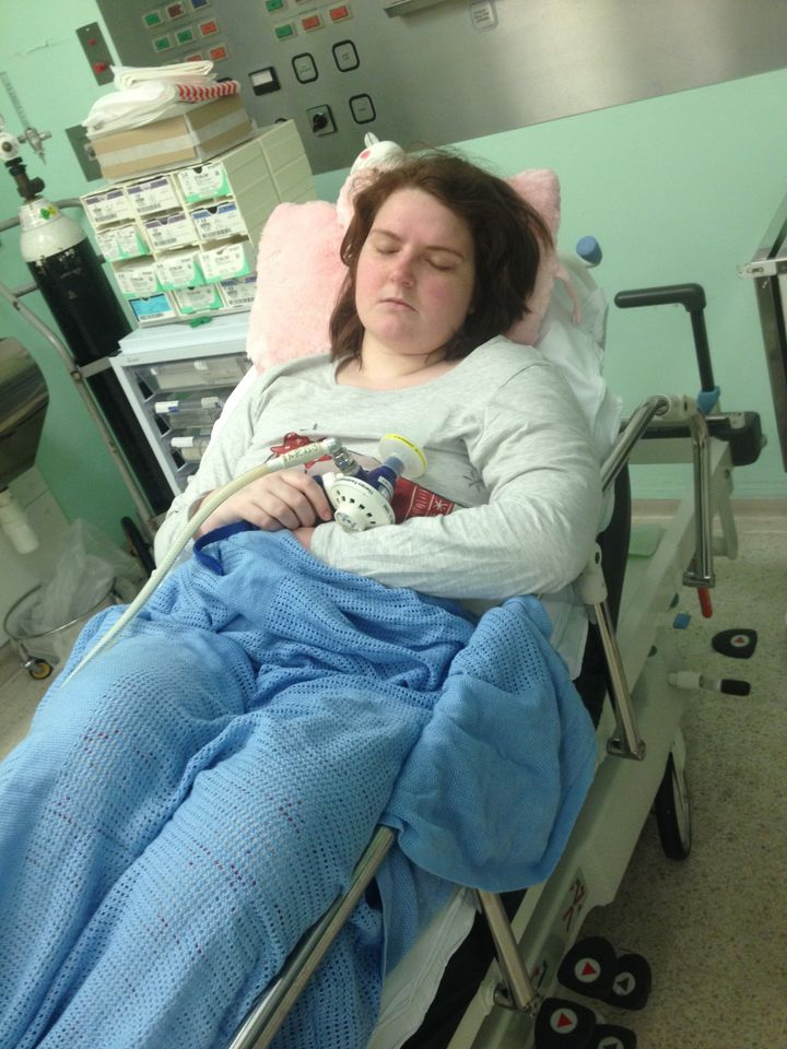 Katie was in and out of hospital due to unexpected side effects of opioid use