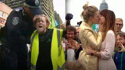 300 detenidos y una boda tras las manifestaciones de