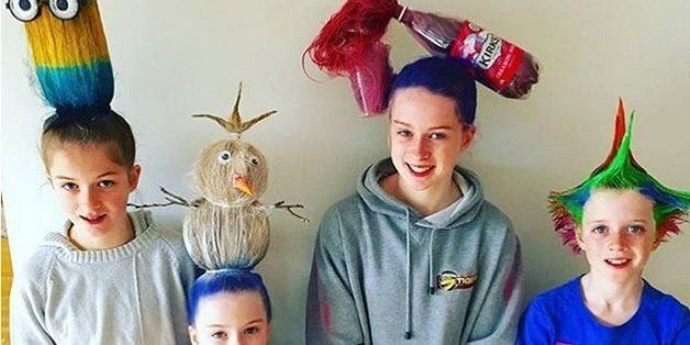 Parents Take 'Crazy Hair Day' To A Whole New
