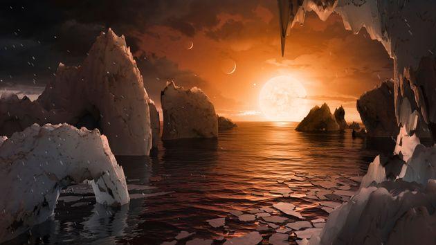 Une exoplanète habitable, c'est d'abord la présence d'eau, comme dans cette vue