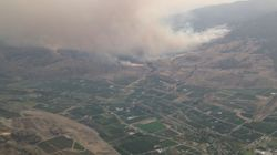 Wind-Fuelled Okanagan Wildfire Forces