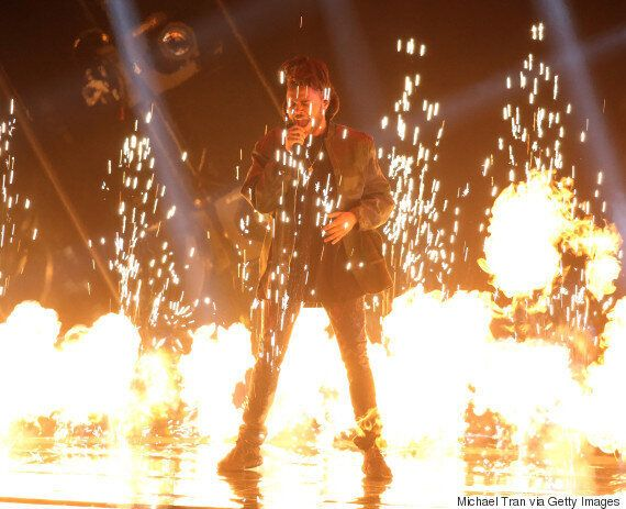The Weeknd's MTV VMA Performance Of 'I Can't Feel My Face' Just Redefined