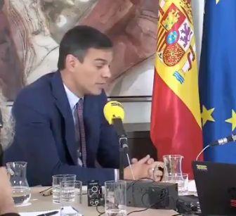 Pedro Sánchez en la