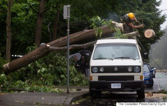Vancouver Storm Power Outage Hits Hundreds Of Thousands Of