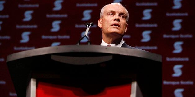 Scotiabank CEO Brian Porter speaks during the company's annual general meeting in Ottawa on Thursday,...