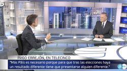 """La contundente reacción de Errejón tras esta pregunta de Pedro Piqueras: """"Se puede deducir que no"""