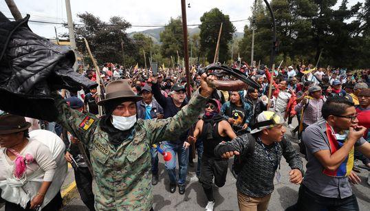 Las impactantes imágenes de las protestas en