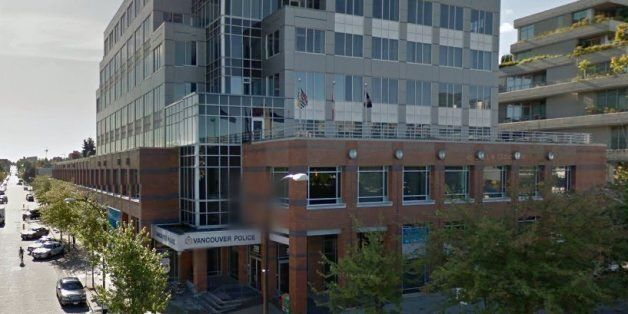 A man threw a smoke grenade into the lobby of the Vancouver police