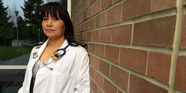 Lee-Anna Huisman from Terrace, B.C. is one of the doctors who graduated through UBC's aboriginal MD admissions