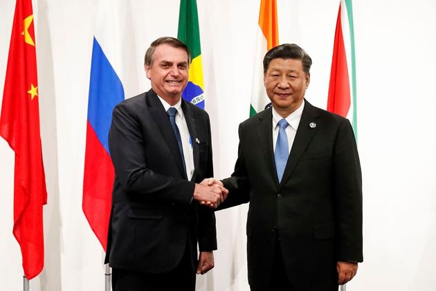 Presidente Jair Bolsonaro, durante recepção ao Presidente da China, Xi Jinping, em reunião...