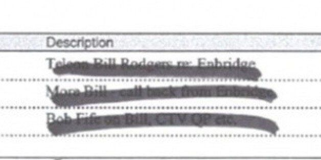 Mike Duffy's Badly Redacted Diary Suggests Illegal Enbridge